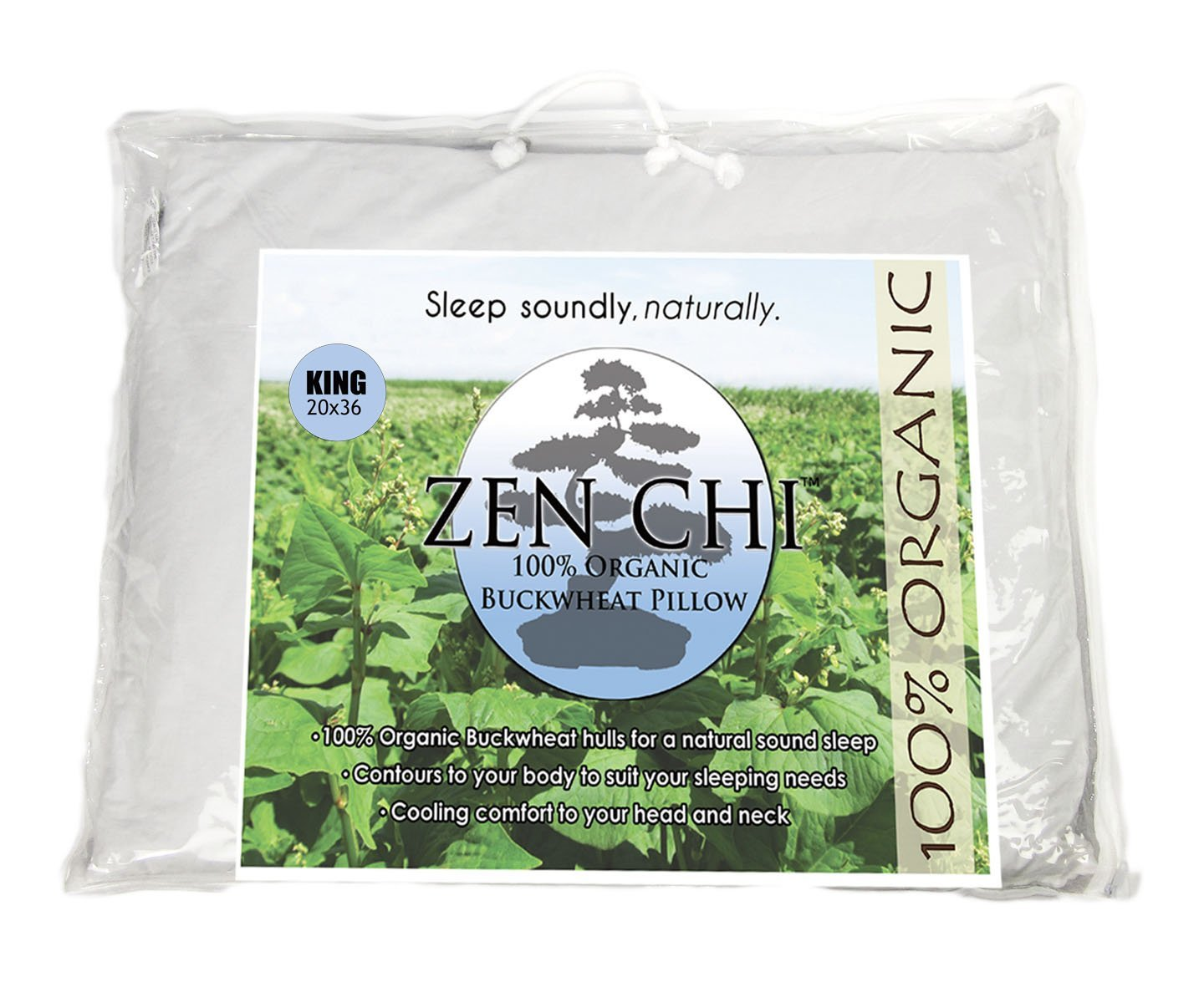 Zenchi King Size Buckwheat Pillow
