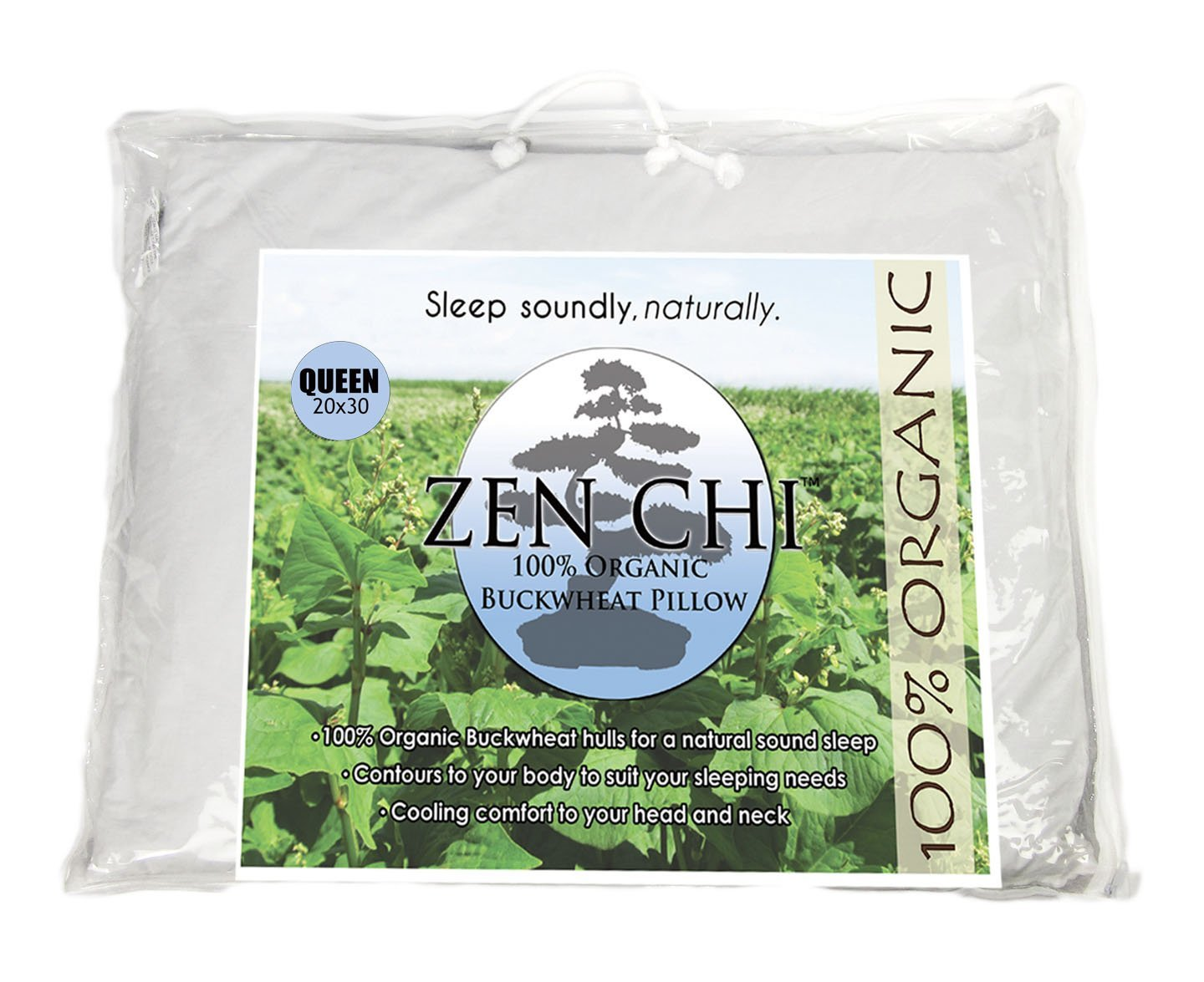 Zenchi Queen Size Buckwheat Pillow